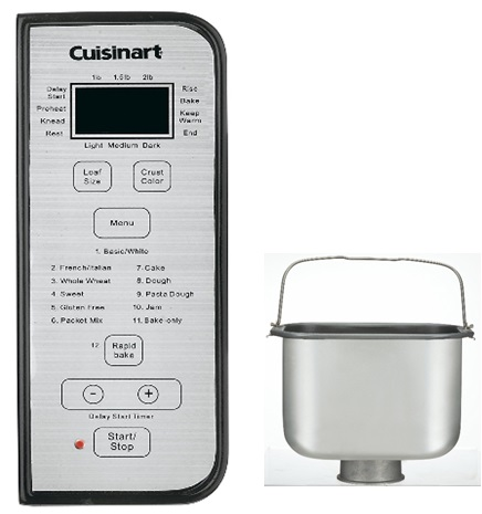 Cuisinart Bread Maker control panel