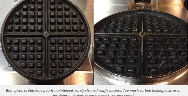 Clean Grease Buildup on Waffle Irons